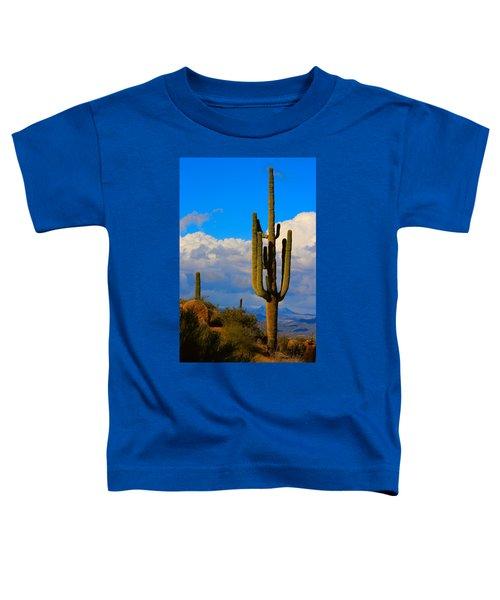 Giant Saguaro In The Southwest Desert  Toddler T-Shirt