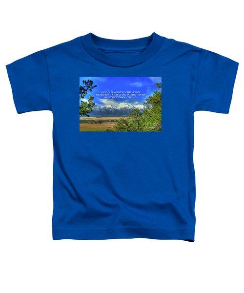 God's Majestic Creation Toddler T-Shirt