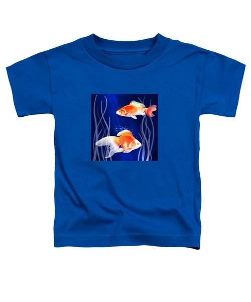 Goldfish Aglow Toddler T-Shirt by Little Bunny Sunshine