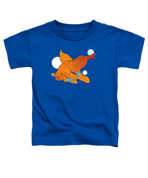 Goldfish And Bubbles Graphic Toddler T-Shirt by MM Anderson