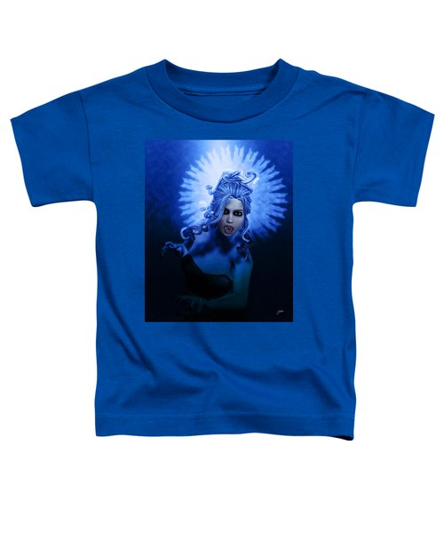 Gorgon Blue Toddler T-Shirt by Joaquin Abella