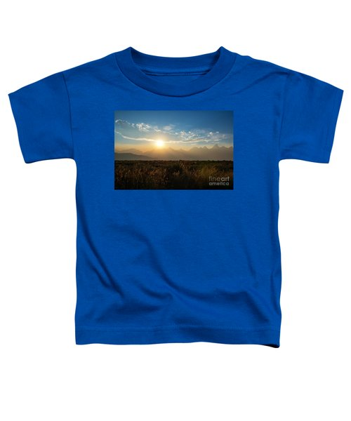 Grand Teton Hazy Sunset  Toddler T-Shirt
