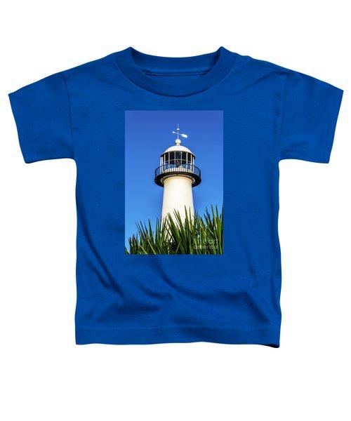 Gulf Coast Lighthouse Seascape Biloxi Ms 3819a Toddler T-Shirt