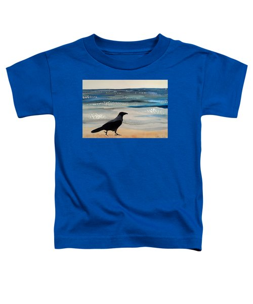 Hooded Crow At The Black Sea By Dora Hathazi Mendes Toddler T-Shirt by Dora Hathazi Mendes