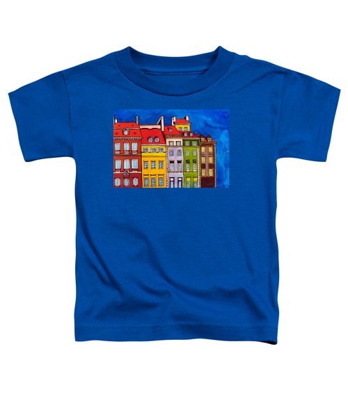 Houses In The Oldtown Of Warsaw Toddler T-Shirt