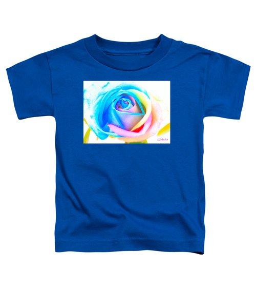 Rainbow Rose Toddler T-Shirt