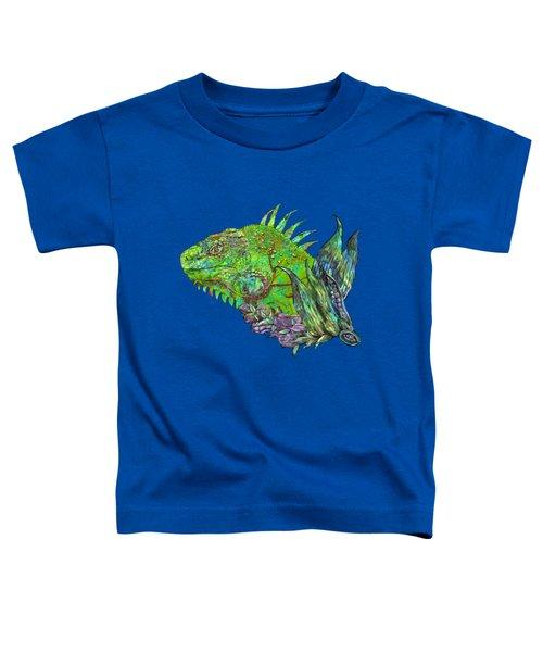 Iguana Cool Toddler T-Shirt by Carol Cavalaris
