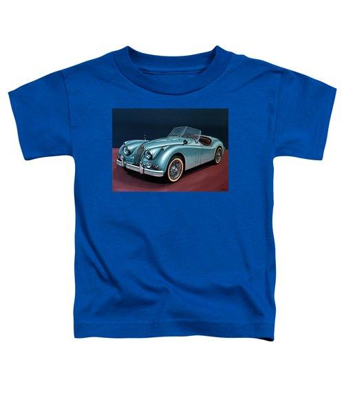 Jaguar Xk140 1954 Painting Toddler T-Shirt
