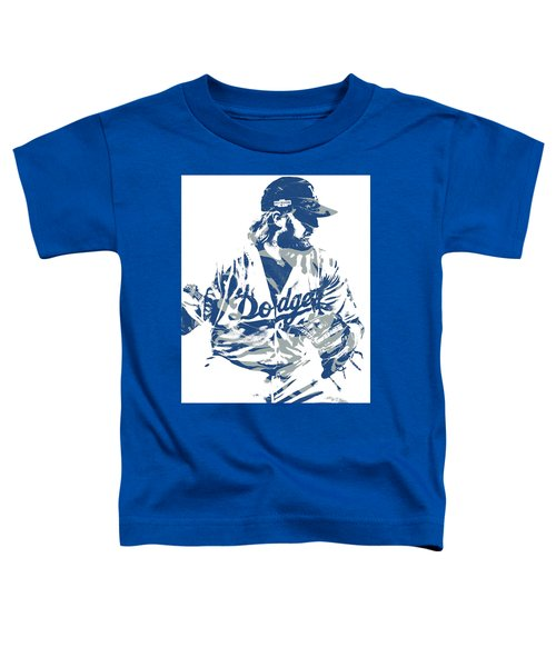 Justin Turner Los Angeles Dodgers Pixel Art 15 Toddler T-Shirt