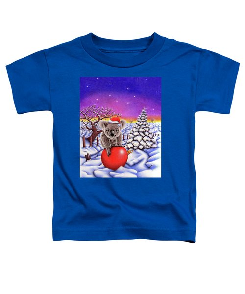 Koala On Christmas Ball Toddler T-Shirt by Remrov