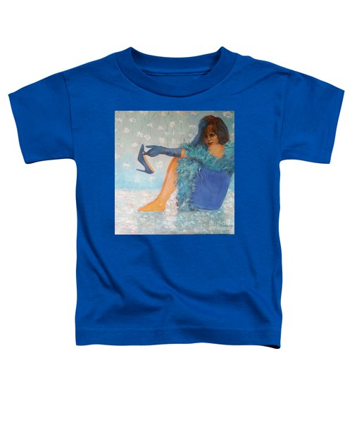 Lady In Blue Toddler T-Shirt