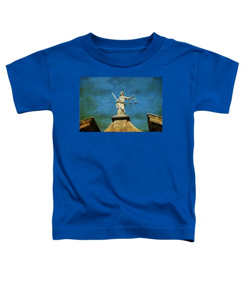 Lady Justice. Streets Of Dublin. Painting Collection Toddler T-Shirt