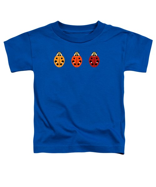 Ladybug Trio Horizontal Toddler T-Shirt