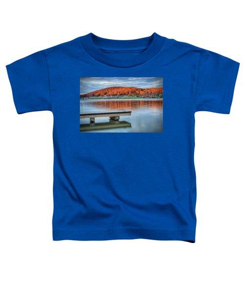 Autumn Red At Lake White Toddler T-Shirt