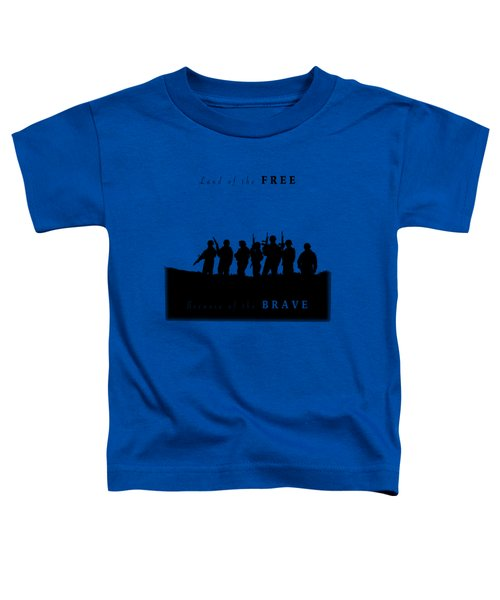 Land Of The Free Graphic Toddler T-Shirt