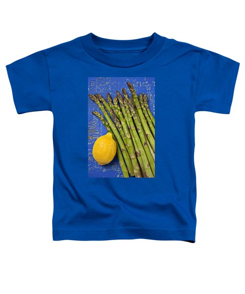 Lemon And Asparagus  Toddler T-Shirt by Garry Gay