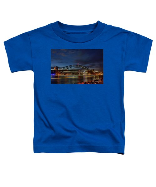 Light Trails On The Harbor By Kaye Menner Toddler T-Shirt by Kaye Menner