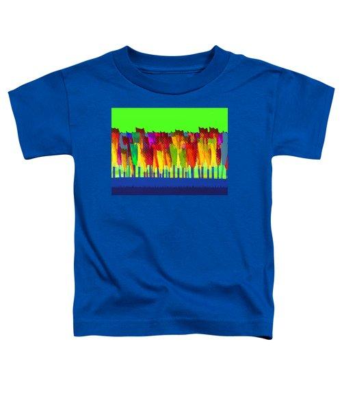 Lisse - Tulips On Green Sky Toddler T-Shirt