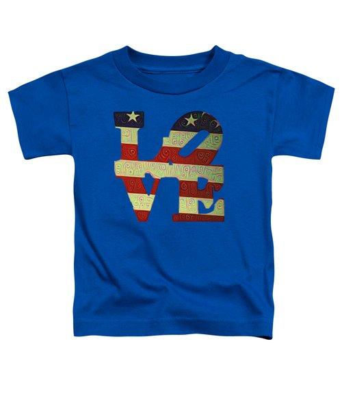 Love The Usa Toddler T-Shirt