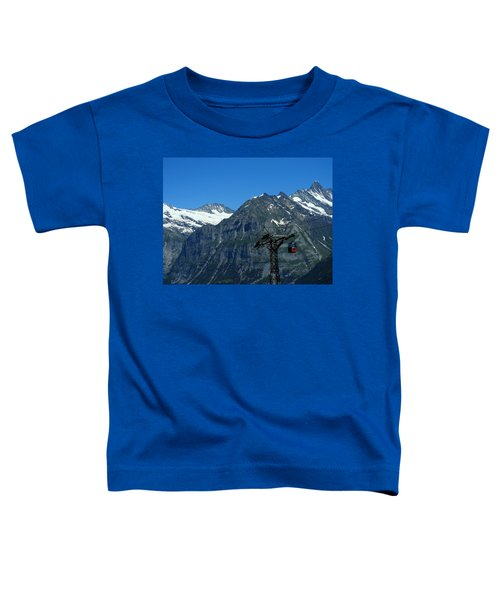 Maennlichen Gondola Calbleway, In The Background Mettenberg And Schreckhorn Toddler T-Shirt