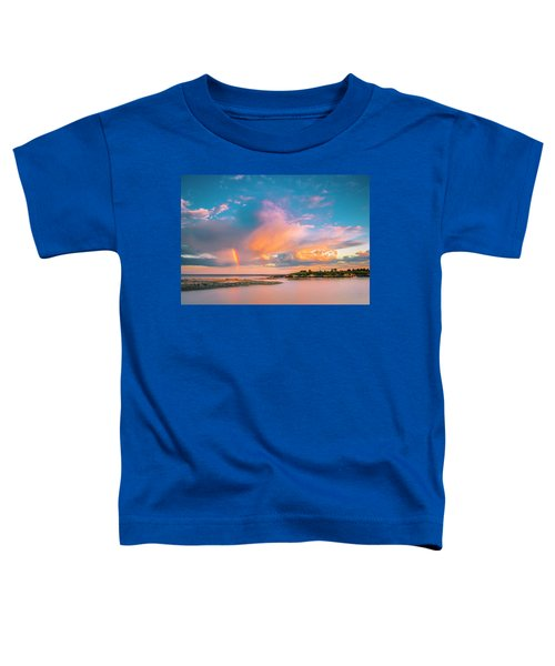 Maine Sunset - Rainbow Over Lands End Coast Toddler T-Shirt