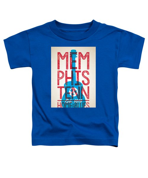 Memphis Tennessee - Home Of The Blues Toddler T-Shirt by Jim Zahniser