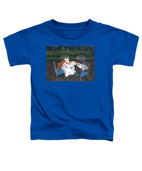 Meowjongg - Cats Playing Mahjongg Toddler T-Shirt
