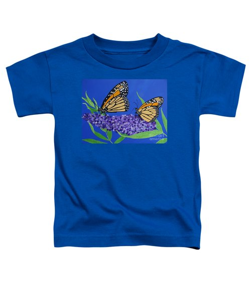 Monarch Butterflies On Buddleia Flower Toddler T-Shirt