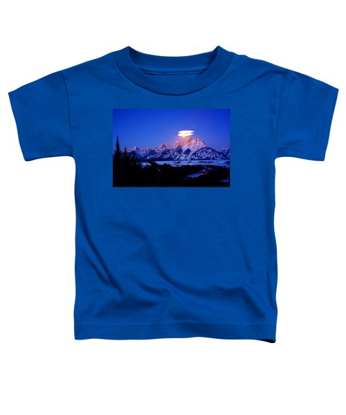 Moon Sets At The Snake River Overlook In The Tetons Toddler T-Shirt