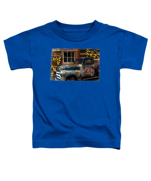 Moonshine Express Bordered Toddler T-Shirt by Debra and Dave Vanderlaan