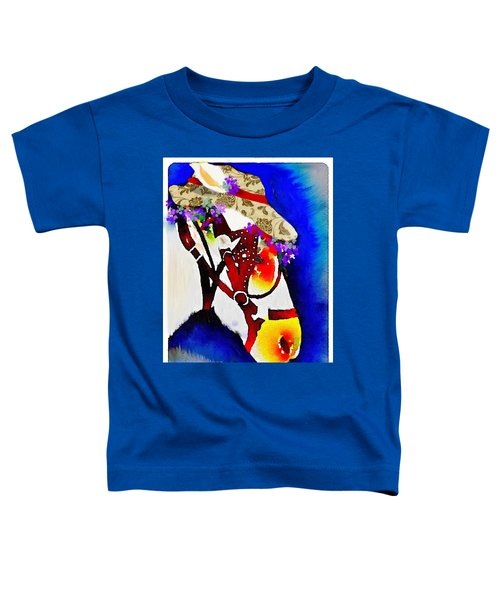 Toddler T-Shirt featuring the digital art Mule Days by Gerry Morgan