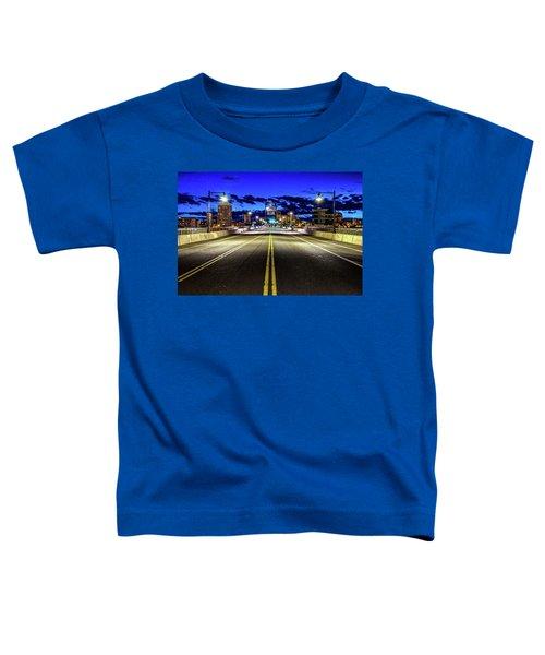 Murray Morgam Bridge During Blue Hour In Hdr Toddler T-Shirt