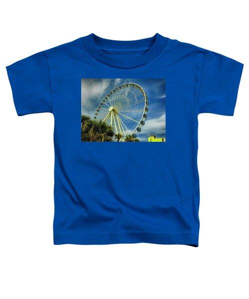 Myrtle Beach Skywheel Toddler T-Shirt by Bill Barber