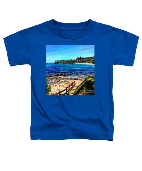 Napili Beach Gazebo Walkway Shower Curtain Size Toddler T-Shirt