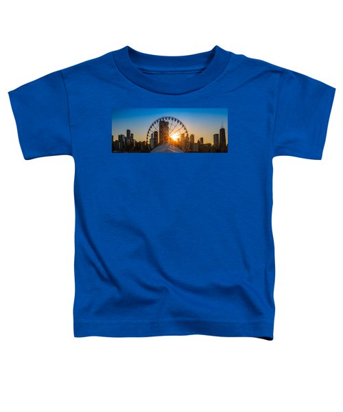 Navy Pier Sundown Chicago Toddler T-Shirt