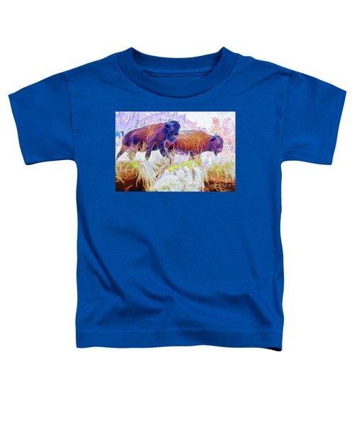 Neon Bison Pair Toddler T-Shirt