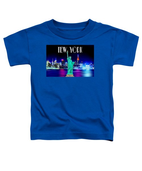 New York Shines Toddler T-Shirt by Az Jackson