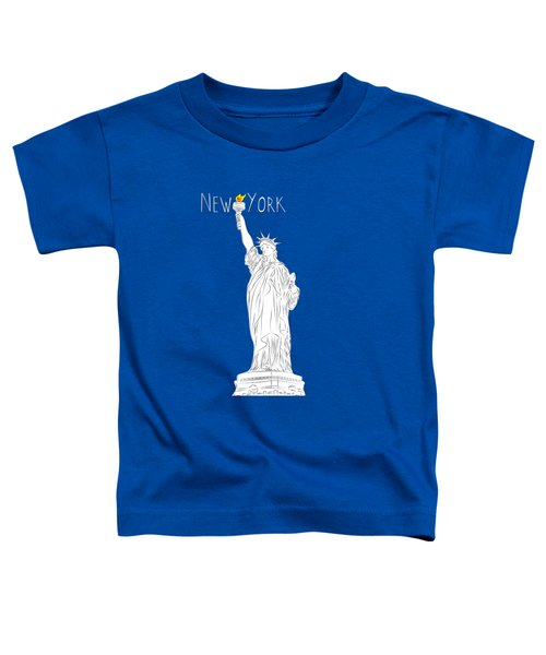 Ny Statue Of Liberty Line Art Toddler T-Shirt
