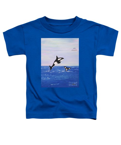Orcas In The Morning Toddler T-Shirt