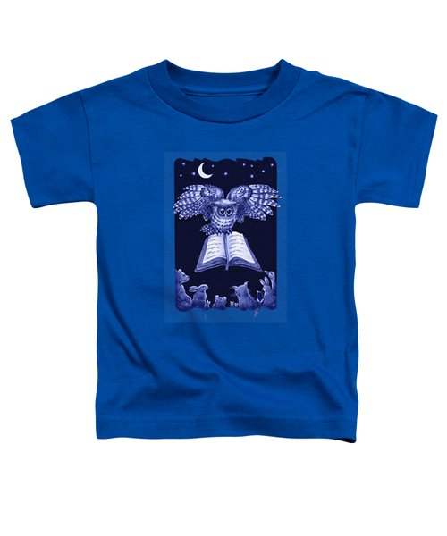 Owl And Friends Indigo Blue Toddler T-Shirt