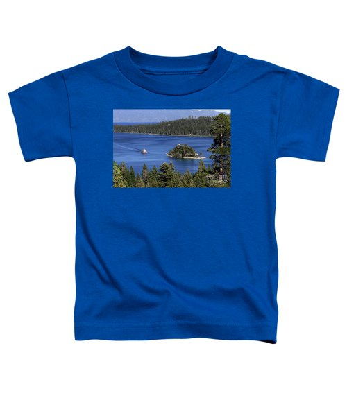 Paddle Boat Emerald Bay Lake Tahoe California Toddler T-Shirt