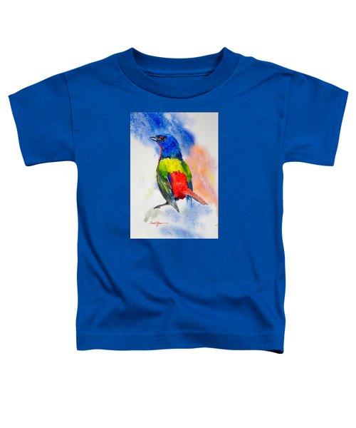 Da189 Painted Bunting Daniel Adams Toddler T-Shirt