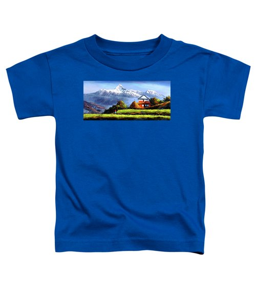 Panoramic View Of Beautiful Everest Mountain Toddler T-Shirt
