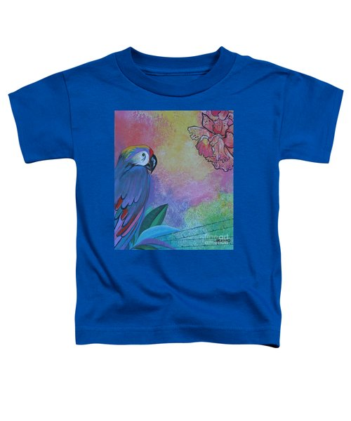 Parrot In Paradise Toddler T-Shirt