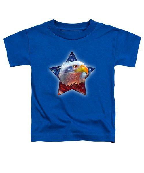 Patriotic Eagle Star Toddler T-Shirt