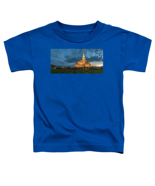 Payson Temple Panorama Toddler T-Shirt