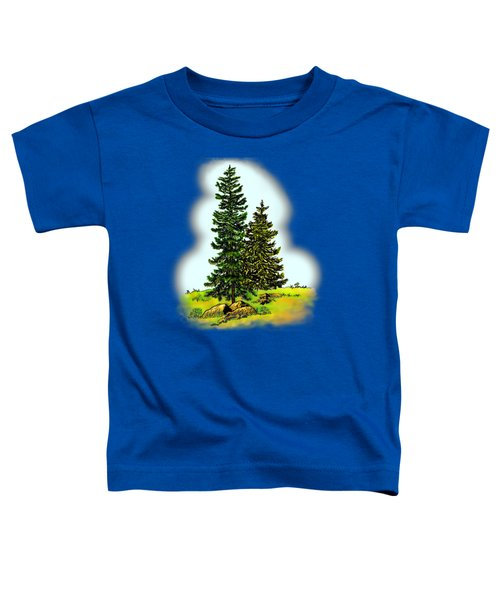 Pine Tree Nature Watercolor Ink Image 2         Toddler T-Shirt