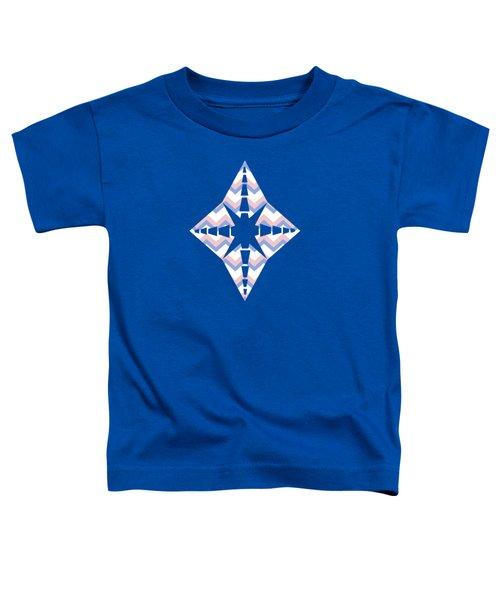 Pink Blue Chevron Pattern Toddler T-Shirt