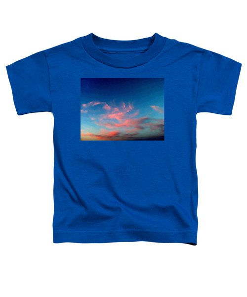 Pink Clouds Abstract Toddler T-Shirt