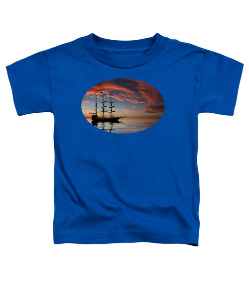 Pirate Ship At Sunset Toddler T-Shirt